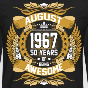 August 1967 50 Years Of Being Awesome T-Shirts - Men's Premium Long Sleeve T-Shirt
