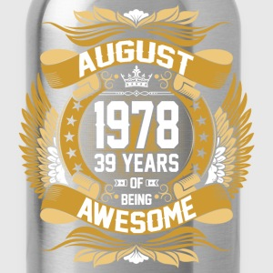 August 1978 39 Years Of Being Awesome T-Shirts - Water Bottle