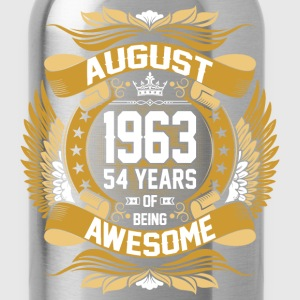 August 1963 54 Years Of Being Awesome T-Shirts - Water Bottle