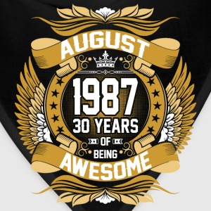 August 1987 30 Years Of Being Awesome T-Shirts - Bandana