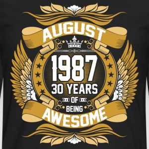 August 1987 30 Years Of Being Awesome T-Shirts - Men's Premium Long Sleeve T-Shirt
