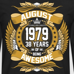 August 1979 38 Years Of Being Awesome T-Shirts - Men's Premium Long Sleeve T-Shirt