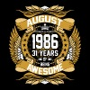 August 1986 31 Years Of Being Awesome T-Shirts - Men's Premium T-Shirt