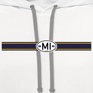 Michigan Racing Stripe - Contrast Hoodie
