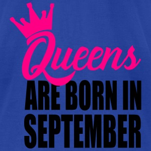 queens are born in sempte Tanks - Men's T-Shirt by American Apparel