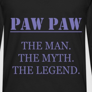 Paw Paw - Paw Paw The Man. The Myth. The Legend. - Men's Premium Long Sleeve T-Shirt