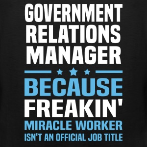 Government Relations Manager - Men's Premium Tank