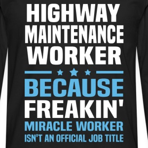 Highway Maintenance Worker - Men's Premium Long Sleeve T-Shirt