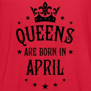 Queens are born in April birthday Queen T-Shirt - Women's Flowy Tank Top by Bella