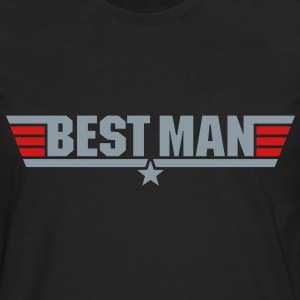 Best Man (Top Gun Style) - Men's Premium Long Sleeve T-Shirt
