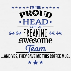 Freaking Awesome Team hea Mugs & Drinkware - Men's Premium T-Shirt
