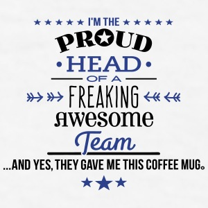Freaking Awesome Team hea Mugs & Drinkware - Men's T-Shirt
