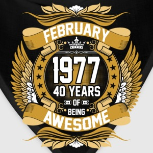 February 1977 40 Years Of Being Awesome T-Shirts - Bandana