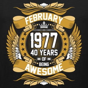 February 1977 40 Years Of Being Awesome T-Shirts - Men's Premium Tank