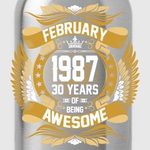 February 1987 30 Years Of Being Awesome T-Shirts - Water Bottle