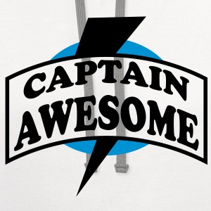 Captain Awesome - Contrast Hoodie