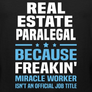 Real Estate Paralegal - Men's Premium Tank
