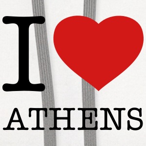I LOVE ATHENS - Contrast Hoodie
