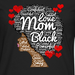 Mother's Day Afro Art for Black Women Moms - Men's Premium Long Sleeve T-Shirt