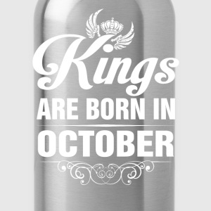 Kings Are Born In October Tshirt T-Shirts - Water Bottle