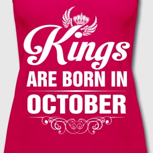 Kings Are Born In October Tshirt T-Shirts - Women's Premium Tank Top