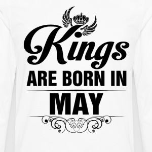 Kings Are Born In May Tshirt T-Shirts - Men's Premium Long Sleeve T-Shirt