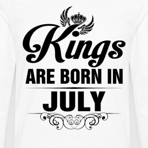 Kings Are Born In July Tshirt T-Shirts - Men's Premium Long Sleeve T-Shirt