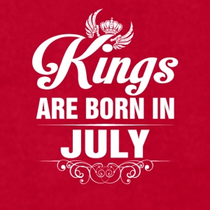 Kings Are Born In July Tshirt Mugs & Drinkware - Men's T-Shirt by American Apparel