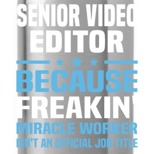 Senior Video Editor T-Shirts - Water Bottle