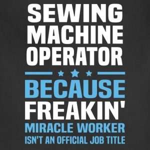 Sewing Machine Operator T-Shirts - Adjustable Apron