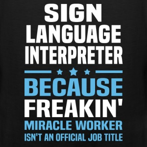 Sign Language Interpreter T-Shirts - Men's Premium Tank