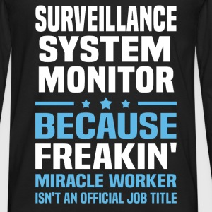 Surveillance System Monitor T-Shirts - Men's Premium Long Sleeve T-Shirt