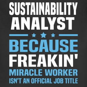 Sustainability Analyst T-Shirts - Adjustable Apron