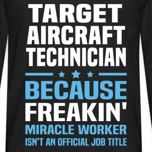 Target Aircraft Technician T-Shirts - Men's Premium Long Sleeve T-Shirt