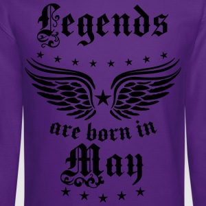 Legends are born in May Birthday Wings T-Shirt - Crewneck Sweatshirt