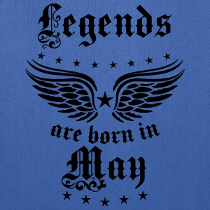 Legends are born in May Birthday Wings T-Shirt - Tote Bag