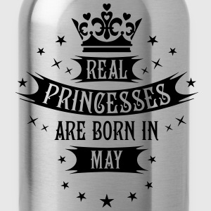 Real Princesses are born in May Princess T-Shirt - Water Bottle