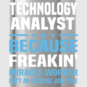 Technology Analyst T-Shirts - Water Bottle