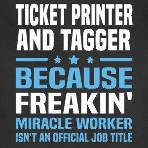 Ticket Printer And Tagger T-Shirts - Adjustable Apron