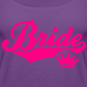 Bride Crown T-Shirt WF - Women's Premium Tank Top