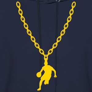 Basketball Gold Chain Long Sleeve Shirts - Men's Hoodie