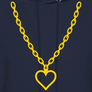 Heart Gold Chain Long Sleeve Shirts - Men's Hoodie