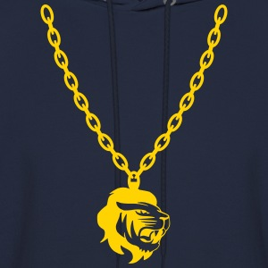 Lion Gold Chain Long Sleeve Shirts - Men's Hoodie