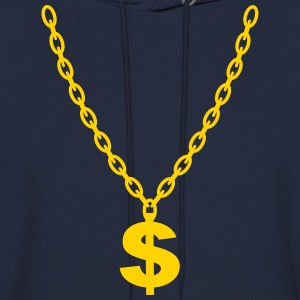Dollar Gold Chain Long Sleeve Shirts - Men's Hoodie