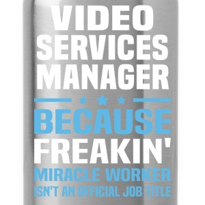 Video Services Manager T-Shirts - Water Bottle