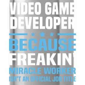 Video Game Developer T-Shirts - Water Bottle