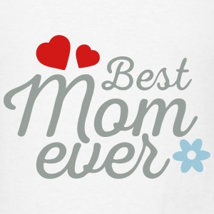 Best Mom Ever 3C Hearts Tanks - Men's T-Shirt