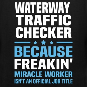 Waterway Traffic Checker T-Shirts - Men's Premium Tank