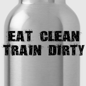 Eat Clean Train Dirty T-Shirts - Water Bottle