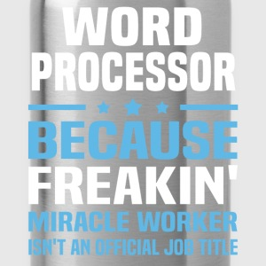 Word Processor T-Shirts - Water Bottle